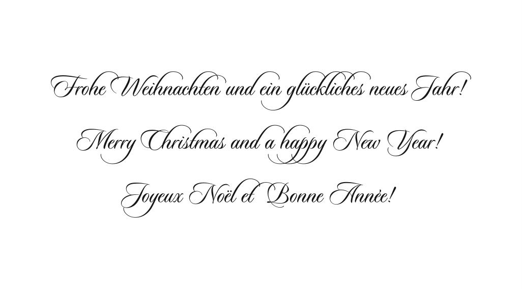 Weihnachtsgr e pamas for Text weihnachtskarte englisch